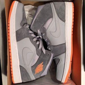 Air Jordan 1 Grey & Orange. Brand new